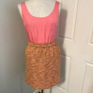 J crew pink tweed dress sleeveless pencil business